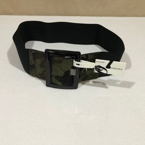 Nine West Camo Stretch Patent Leather Belt
